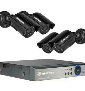 Комплект видеонаблюдения 4х канальный. Камеры