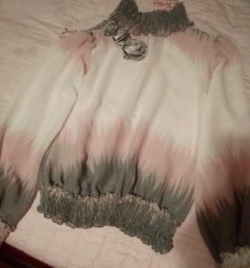 Вечереяя шифоновая блуза
