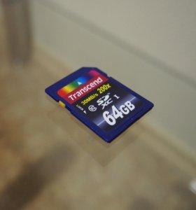 SD-Карта Transcend Premium 30MB/s 64 Гб