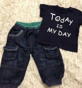 Комплект джинсы+футболочка