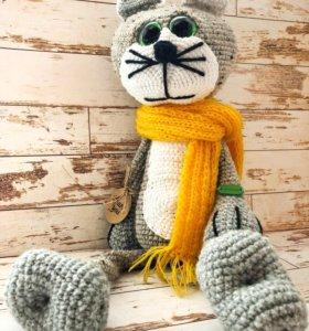 Вязаная игрушка кот Филипп max
