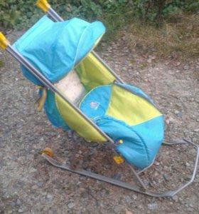 Санки-коляска детская.