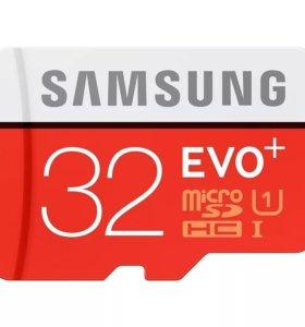 Microsd Samsung EVO plus 32Gb (новые)
