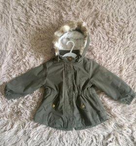 "Куртка-парка фирмы «H&M"",размер 86"