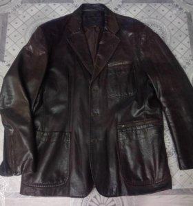 Кожаный итальянский пиджак, торг