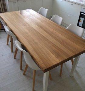 Столы из слэба дерева на заказ