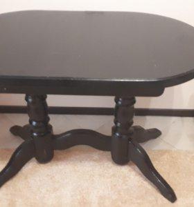 Стол из массива раздвижной, цвет венге