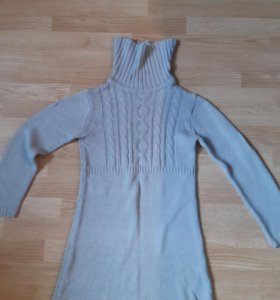 Новое платье для девочки теплое
