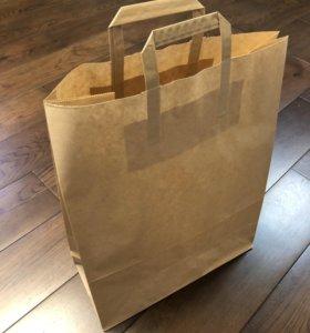 Крафт пакеты бумажные 45-35-15 , коричневые
