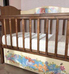 Кроватка Детская с функцией «маятник»