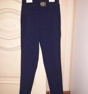 Синие школьные брюки Duwali 134-64-57