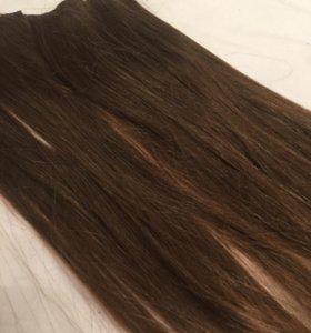 Накладные пряди волосы на заколках