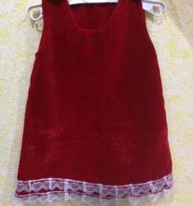 Платье детское, ручная работа
