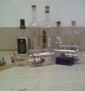 Делаю корабли в бутылках на заказ