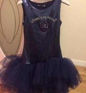 Нарядное платье для девочки 'маленькая леди' 152