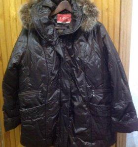 Куртка зимняя новая р. 56 коричневая