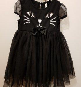 Платье-кошечка на новый год