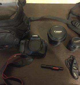 Canon 7D + 24-105mm + 85mm + куча всего