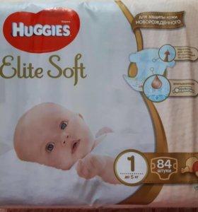 Подгузники huggies elite soft 1 размер