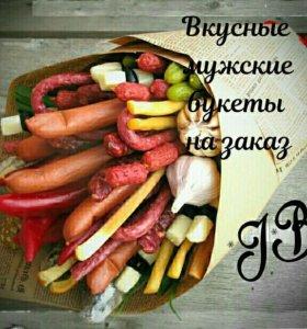 Вкусные фруктовые, мужские букеты на заказ