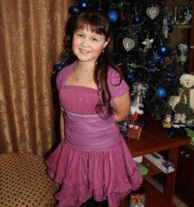 Платье детское с кардиганом