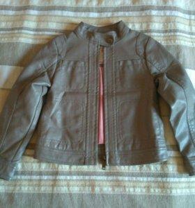 Куртка кожаная, на 100-110 см