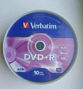 Verbatim dvd-r 4.7Gb 16x 10 штук