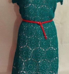 Платье вязаное красивое хлопок 100%