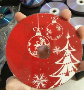 Dvd-r 4.3 gb Чистые болванки новогодние