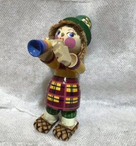 Деревянная игрушка «Трубадур» ручной работы