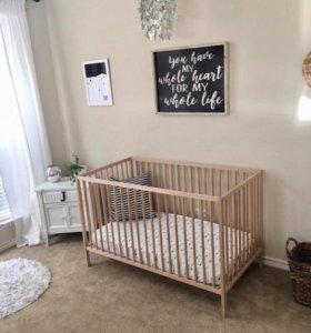 Детская кроватка Икеа Сниглар