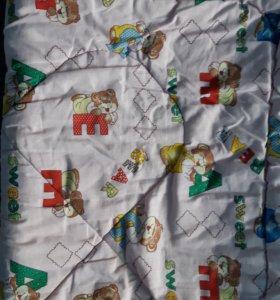 Одеяло+подушка б/у