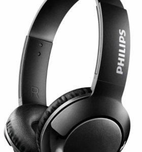 Наушники Bluetooth Philips Bass+ Black SHB3075BK
