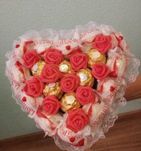 Букет из конфет Rafaello & Ferrero