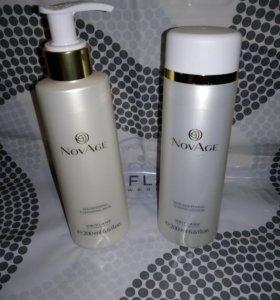 Смягчающий тоник и Очищающее молочко NovAge