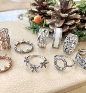 Новые кольца Пандора Pandora серебро 925
