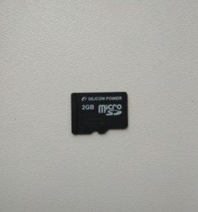 Карта памяти MicroSD 2гб