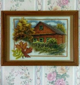 Картины ручная вышивка