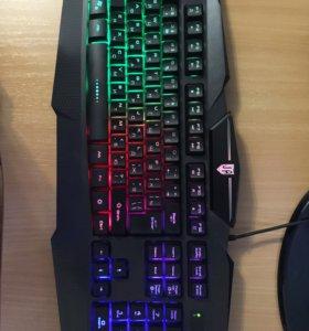Игровая мембранная клавиатура с подсветкой