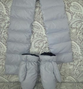 Комплект шарф и перчатки синтепон