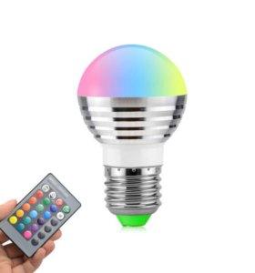 Лэд лампа разноцветная
