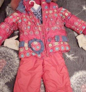 Куртка комбинезон и рюкзачёк в комплекте