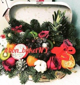 Фруктовый букет / подарок на Новый год