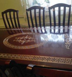 Стол 2 метра и 6 стульев