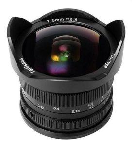 Фишай объектив 7.5mm f/2.8 m4/3