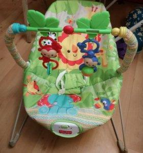 Кресло-качалка-шезлонг с вибрацией  Fisher-price