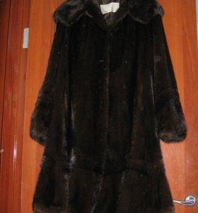 Шуба норковая с капюшоном 48-50