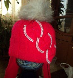 шапка для девочки зимняя