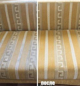 Чистка дивана,матраса,кресло,стул и др.