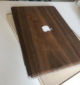 Деревянная наклейка на MacBook 15